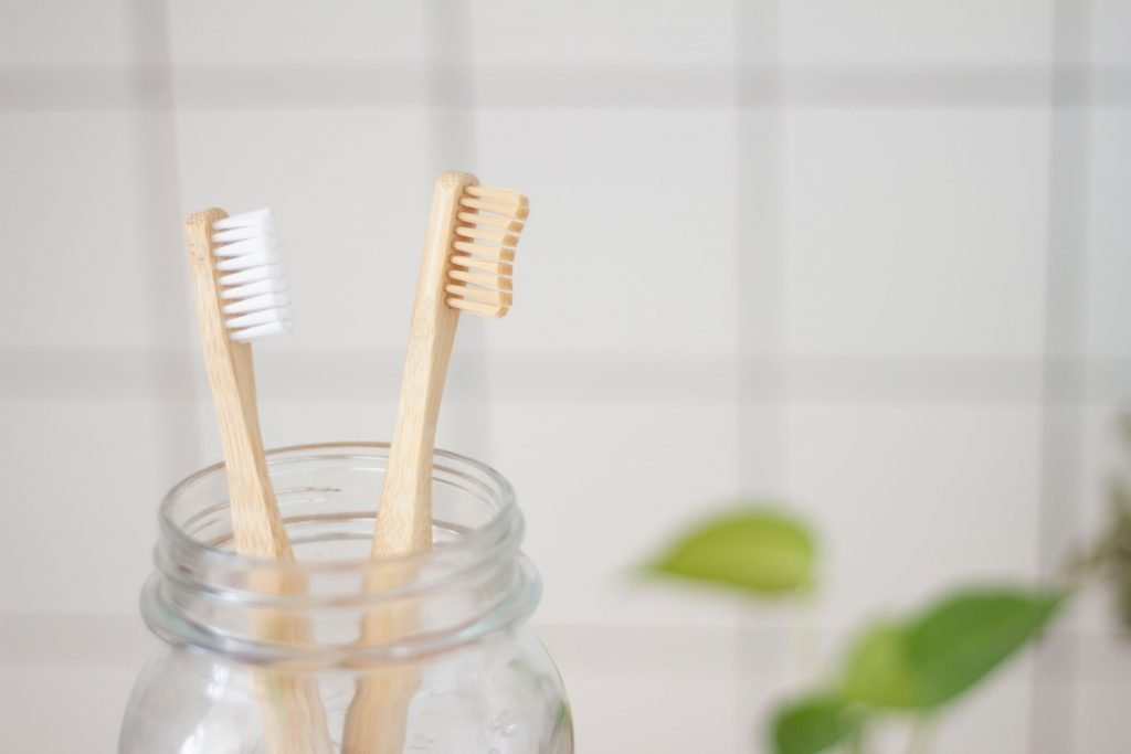 toothbrush picture - how easy is it to care for dental implants